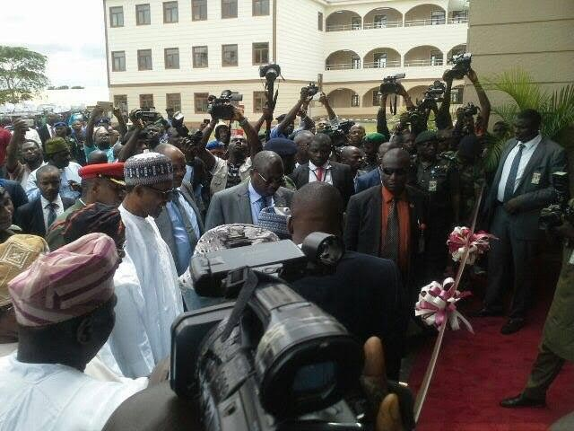 Photos: President Buhari arrives Osun State, commissions projects