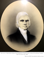 Portrait of John Early, bishop of the Methodist E. Church south, resident of Lynchburg, Virginia. Gifted by Early, Sept. 1865. Retrieved 2021 from deleted reddit account.