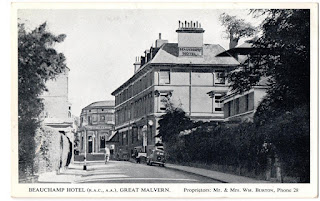 Beauchamp Hotel, Malvern (from Hip Post Card site)