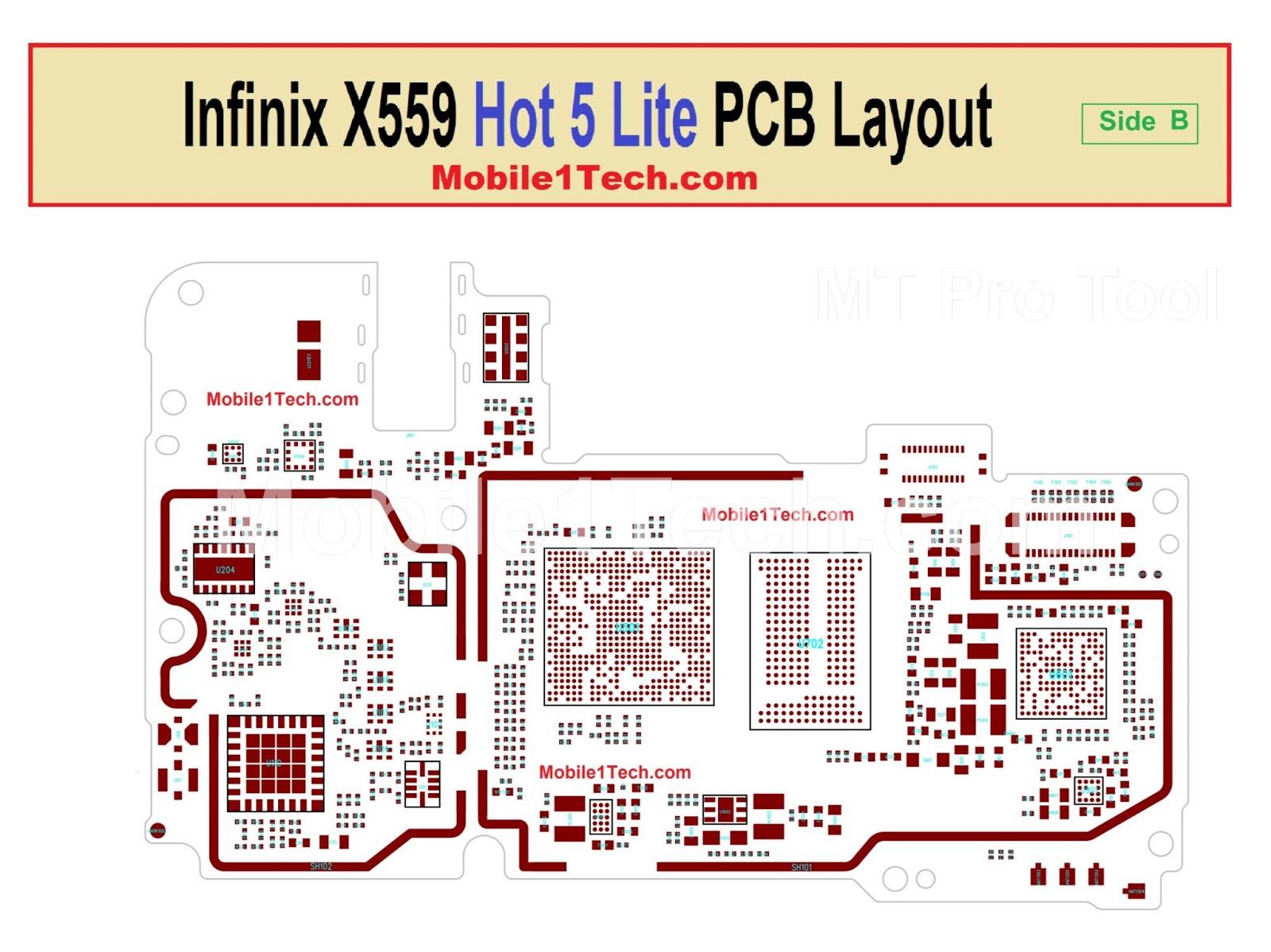 Infinix X559 Hot 5 Lite Pcb Layout