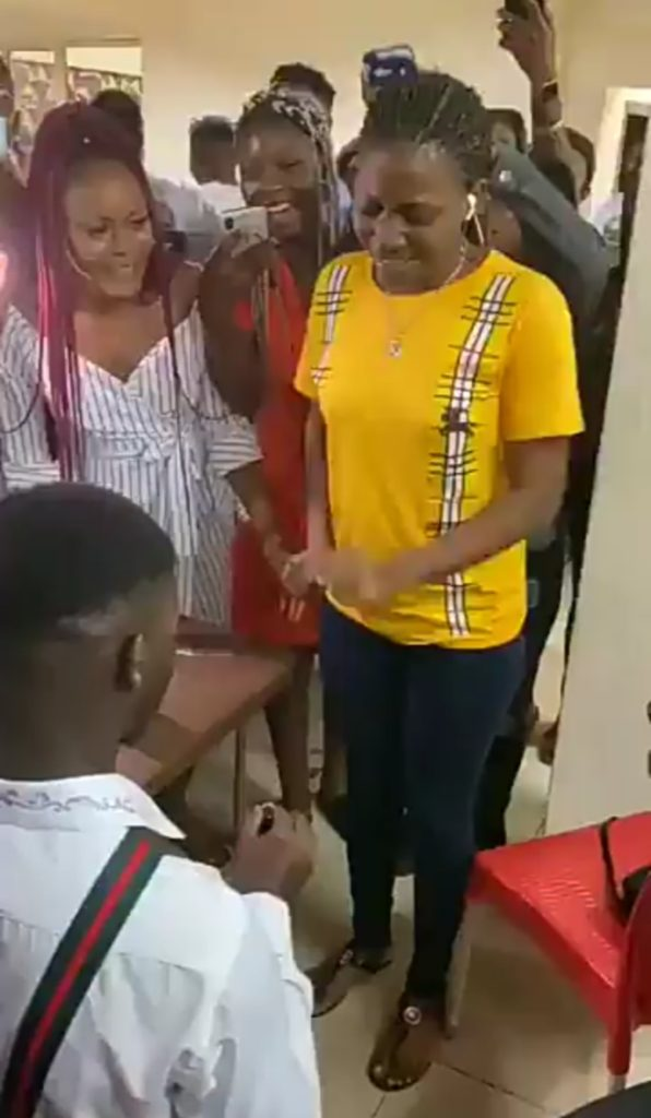 [Gist]  Lady Runs Mad While Trying To Accept Proposal Ring From Her Boyfriend (Watch Video