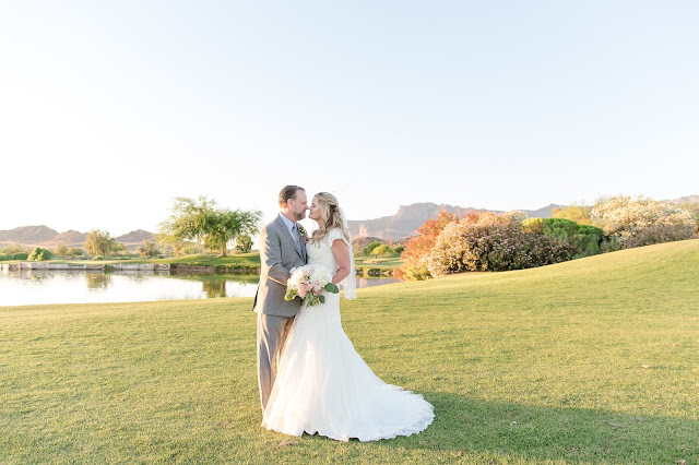 Bride and Groom Portraits at The Views at Superstition Wedding Venue