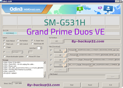 سوفت وير هاتف Galaxy Grand Prime Duos VE موديل SM-G531H روم الاصلاح 4 ملفات تحميل مباشر