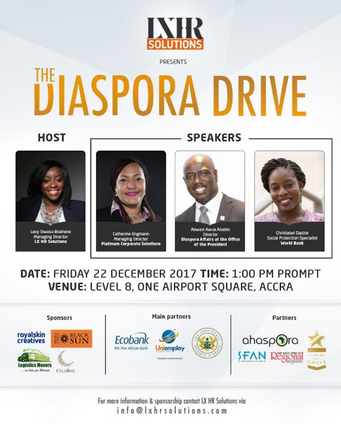 LX HR Solutions presents The Diaspora Drive