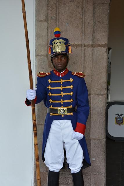 Main Square Quito guard