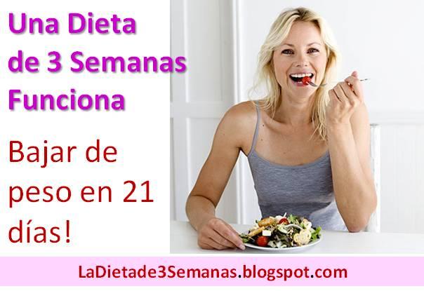 Dieta de 21 dias para bajar de peso