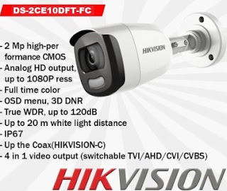 CCTV HIKVISION DS-2CE10DFT-FC 3.6mm