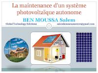La maintenance d'un système photovoltaique autonome