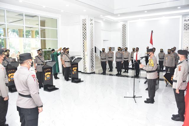Kapolda Jambi Pimpin Sertijab Kepala Biro Operasi (Karo Ops) Polda Jambi dan Kapolres Muaro Jambi