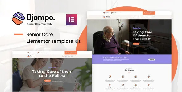 Best Senior Care Elementor Template Kit