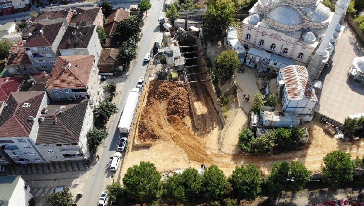 Samandıra Veysel Karani Metro inşaatında göçük!