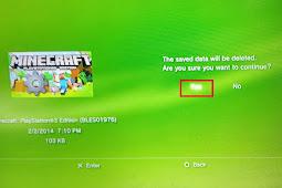 Cara Menghapus Save Data Game PS3