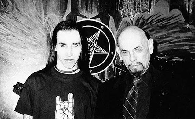 Foto de Marilyn Manson com Anton LaVey