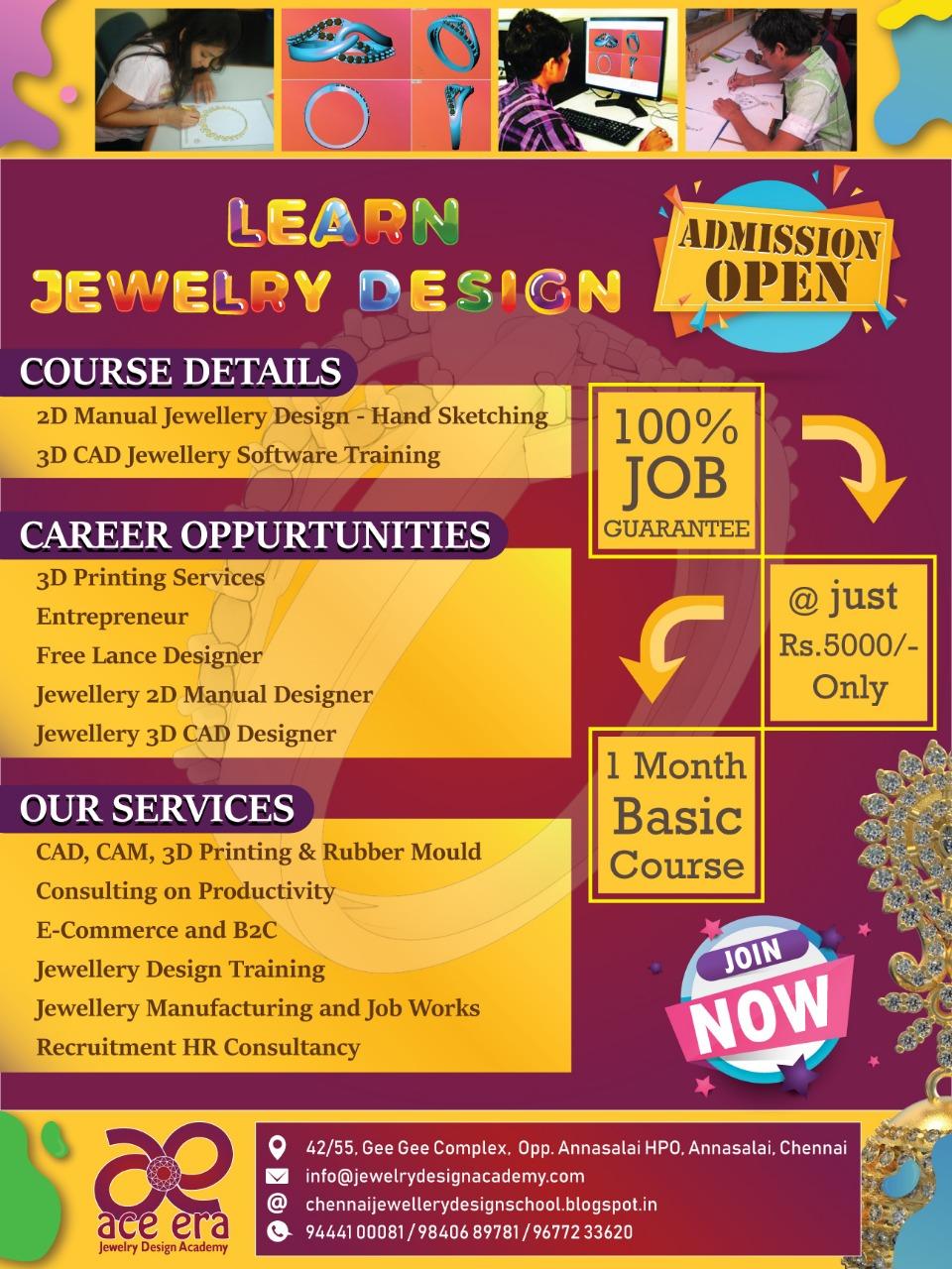 Online 3D Jewellery CAD Design Services Chennai Education