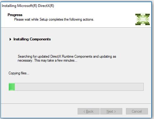 Proses Instalasi DirectX