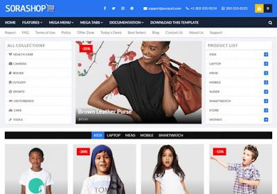 SoraShop - Premium Blogger Template Free Download