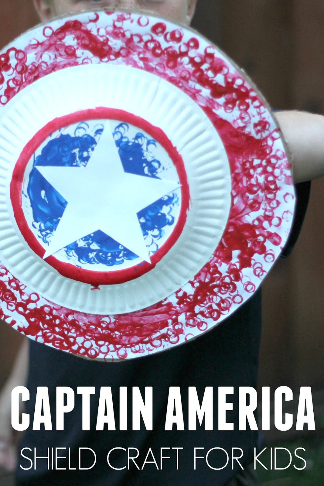 Toddler Approved Easy Captain America Shield Craft For