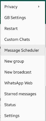 GBWhatsApp Schedule Whatsapp Message