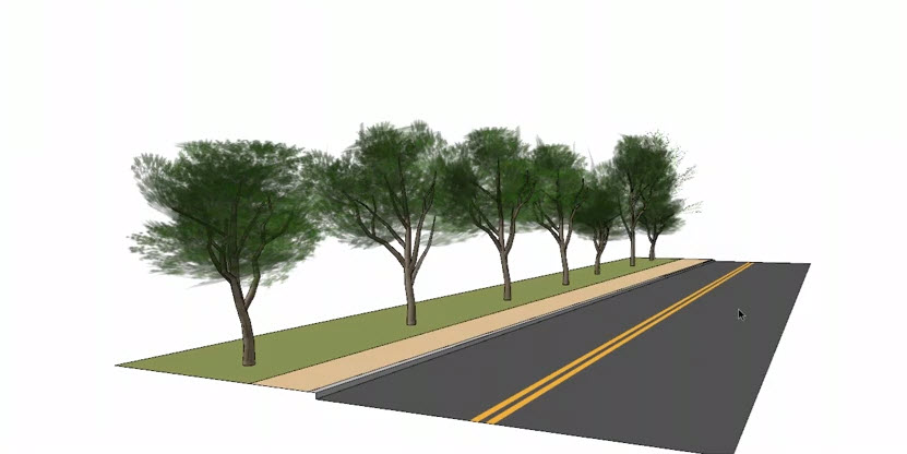 How to insert an element in the trees and shrubs of the SketchUp