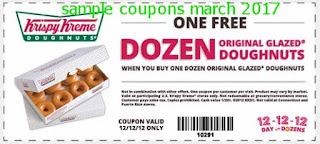 Krispy Kreme coupons march