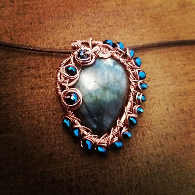 Copper Pendants, Copper Jewelry India, Wire Wrapped Jewellery