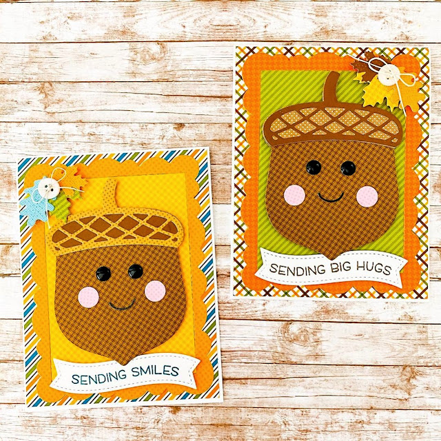 Sunny Studio Stamps: Nutty For You Customer Card by Stephanie Isom
