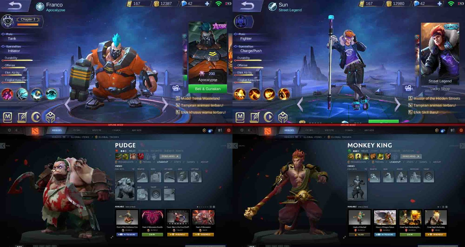 Hero Mobile Legend Yang Mirip Dengan DOTA 2 Game & Aplikasi