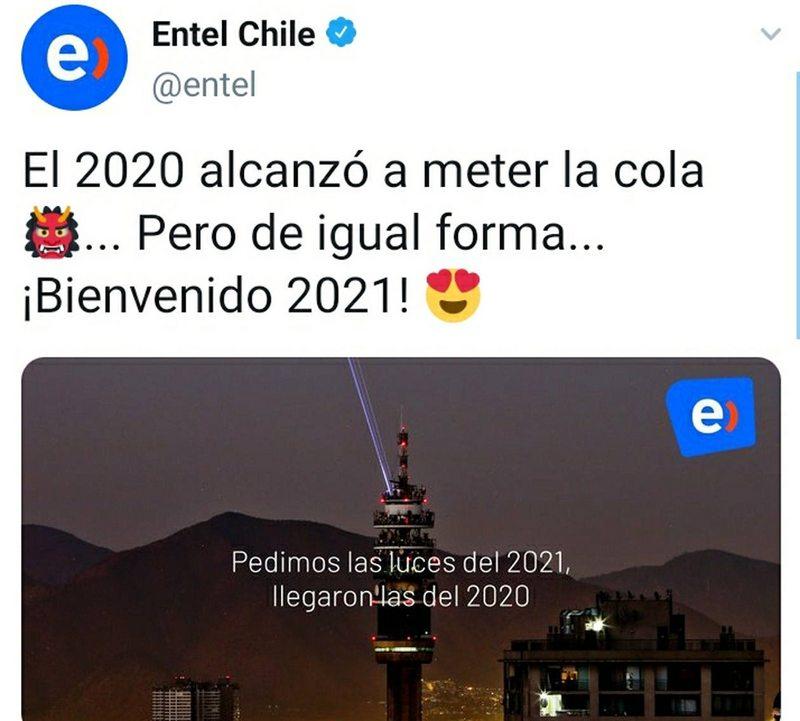 Festival de memes por fallida proyección de luces en la Torre Entel