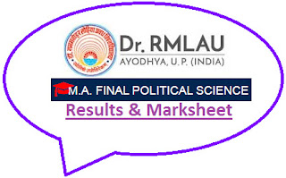 RML Avadh University MA Political Science Final Result 2021