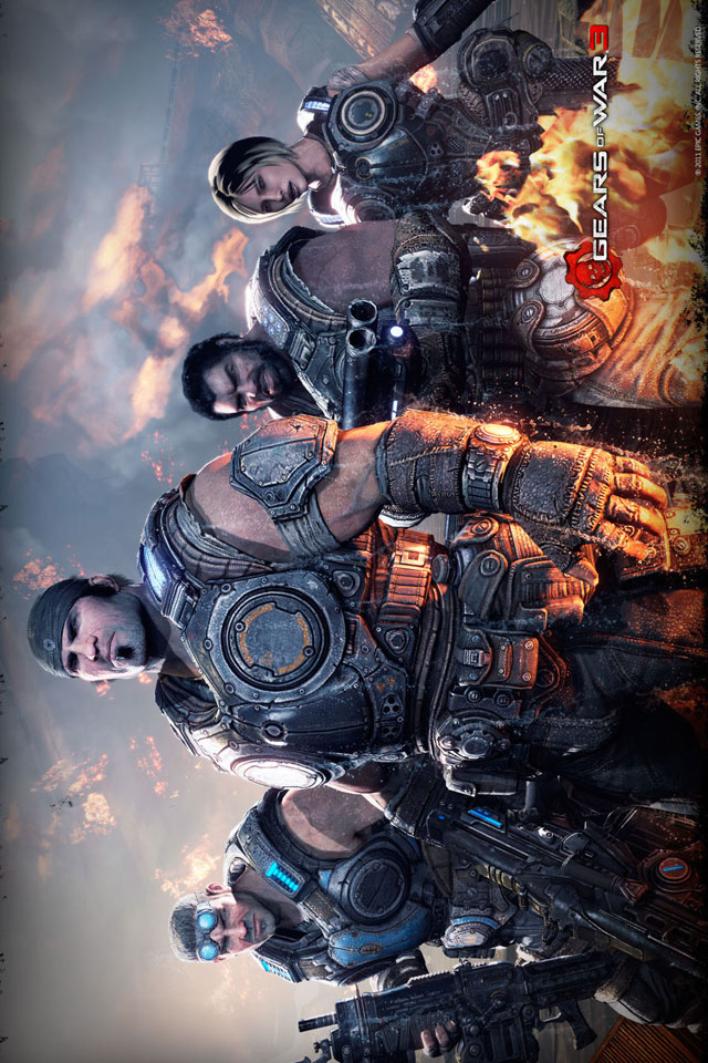 Iphone Hd Wallpapers Delta Squad Gears Of War 3 Iphone Hd Wallpaper