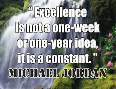 Michael Jordan: EXCELLENCE is not a one-week or one-year idea, it is a CONSTANT - Quotes