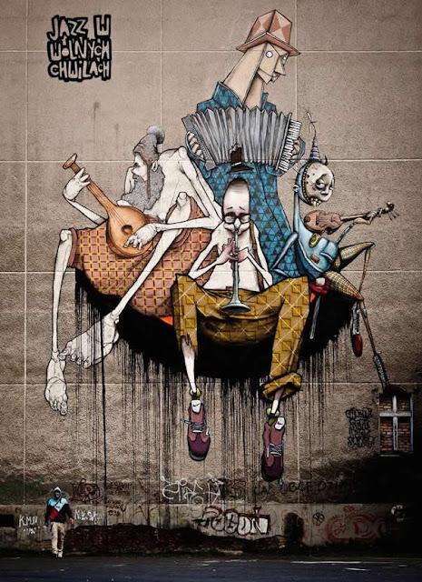 Grafiti atau Lukisan Dinding musik jazz