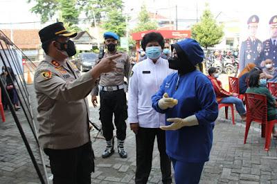 Polres Kediri Kota Grebek 1 Juta Vaksinasi dalam 1 Hari