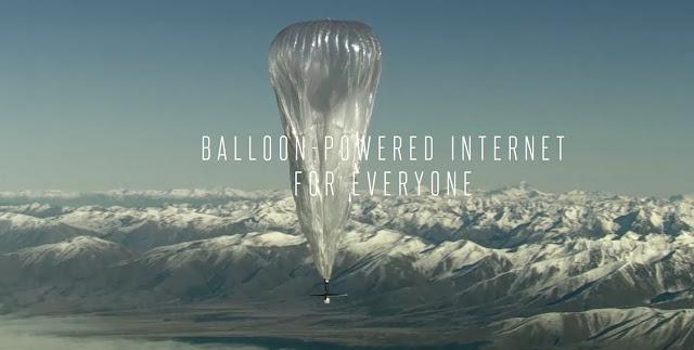 Balloon powered internet by GoogleX