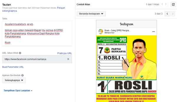 format iklan facebook dibuat manual