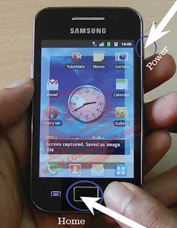 Cara Print Screen pada Samsung Young tanpa menggunakan aplikasi