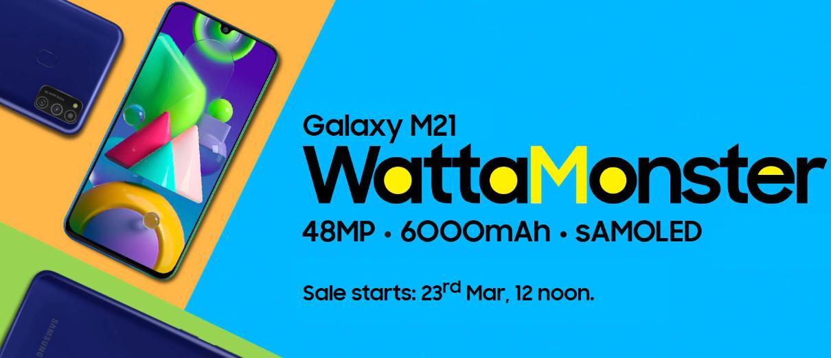 Nuovo Samsung Galaxy M21, fascia media con batteria da 6000 mAh