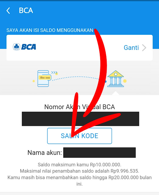 salin kode akun virtual BCA