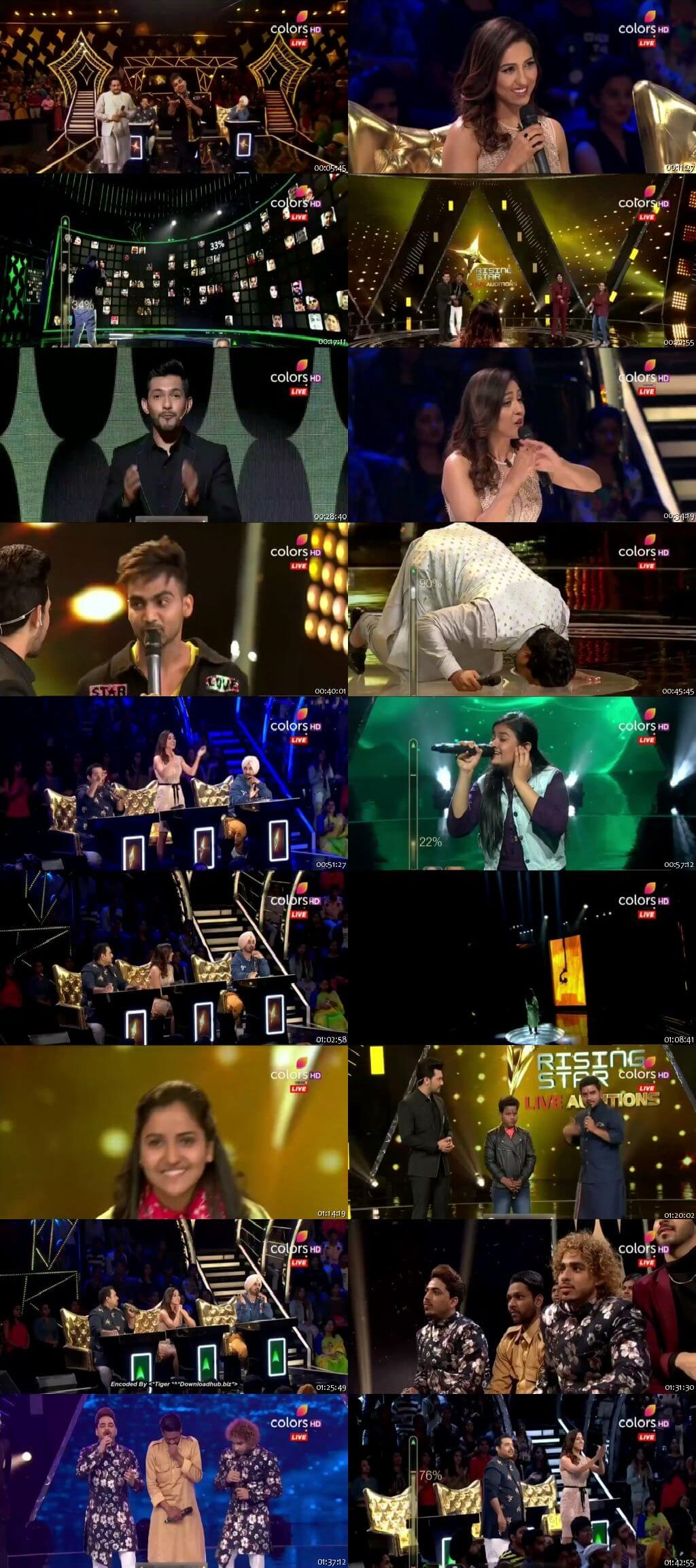 Screenshots Of Hindi Show Rising Star 24th March 2019 Episode 04 300MB 480P HD