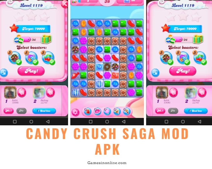 Candy Crush Saga Mod Apk - Gamesinonline