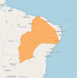 Em 124 cidades da Paraíba podem ocorrer chuvas intensas alerta Instituto
