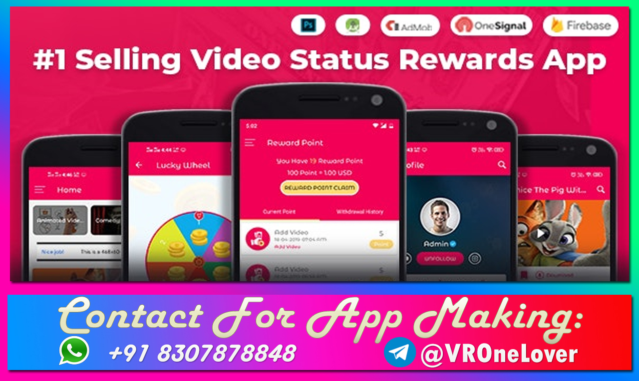 Android Video Status App Code With Reward Points And Admin Panel - ILoveDeshi.com