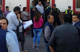 Sectores opositores cuestionaron la fuerte presencia policial.