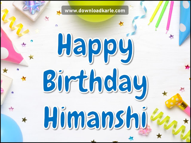 Happy Birthday Himanshi Candle