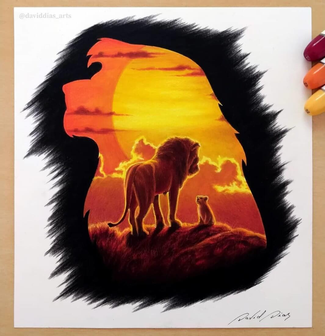 09-The-Lion-King-David-Dias-Drawings-Spanning-Many-different-Subjects-www-designstack-co