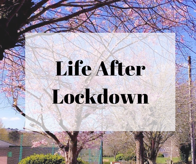life after lockdown header -  blossom trees