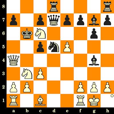 Les Blancs jouent et matent en 3 coups - H Strickert vs Hausius, Allemagne de l'Est, 1985