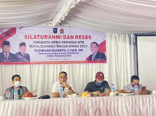 Isu Kesulitan Air dan Penataan Lingkungan  Warnai Reses Perdana Sudirsah di KLU