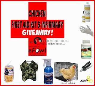 Chicken First aid kit & Infirmary Giveaway at www.The-Chicken-Chick.com, sponsored by eFowl