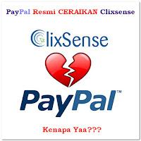 Paypal menghentikan kerjasama dengan clixsense